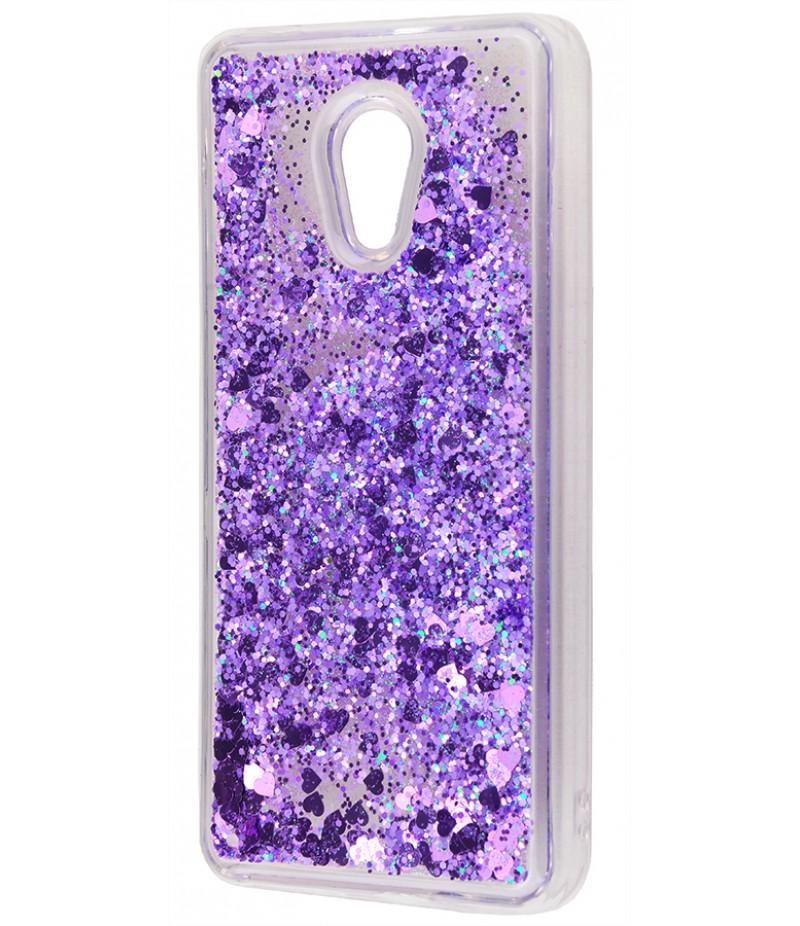 Жидкость внутри блестки Meizu M5 fiolet