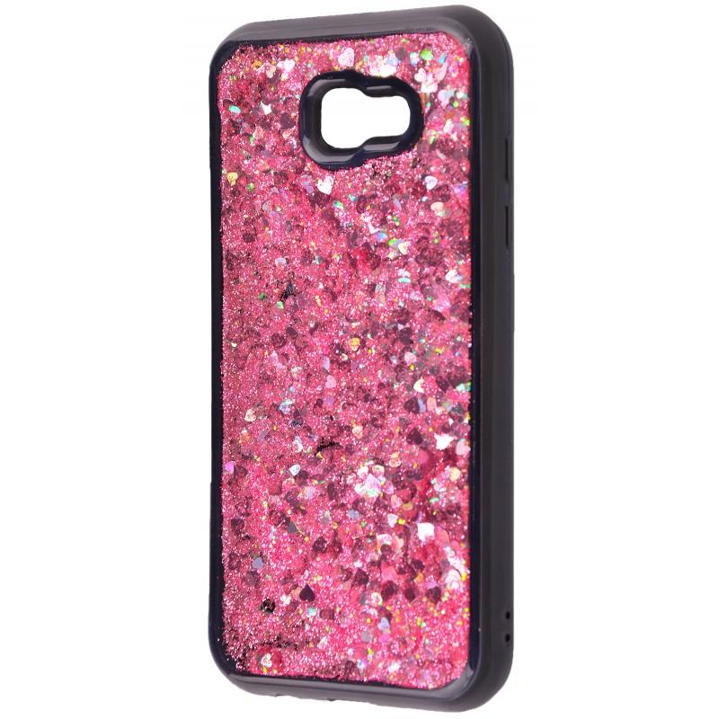 Жидкость внутри блестки(black) Samsung A720 pink