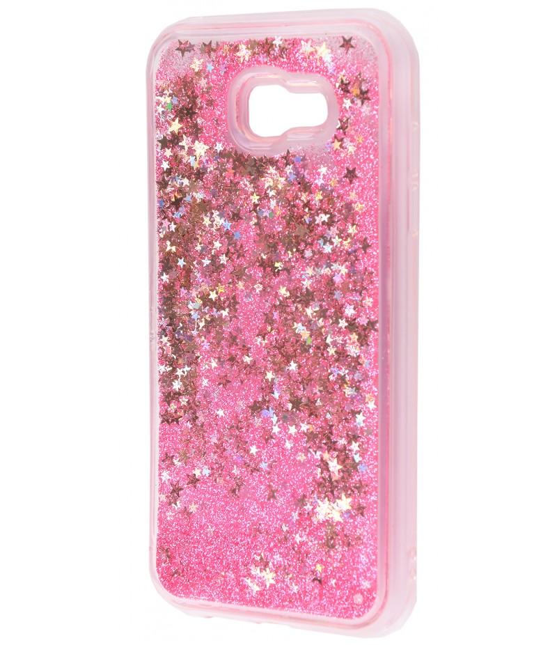 Жидкость внутри блестки Samsung A520 pink