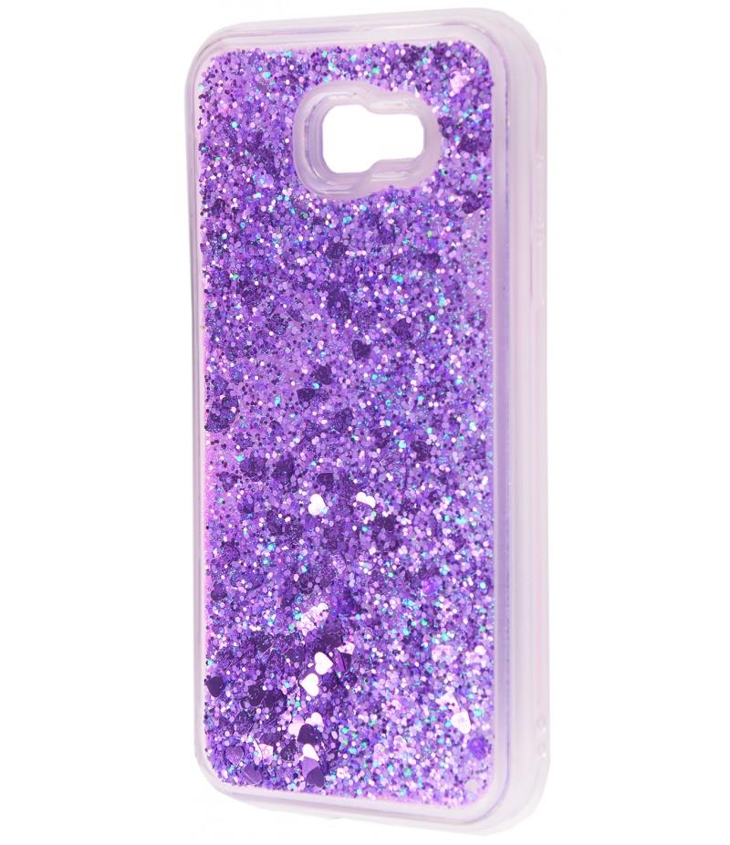 Жидкость внутри блестки Samsung A520 fiolet