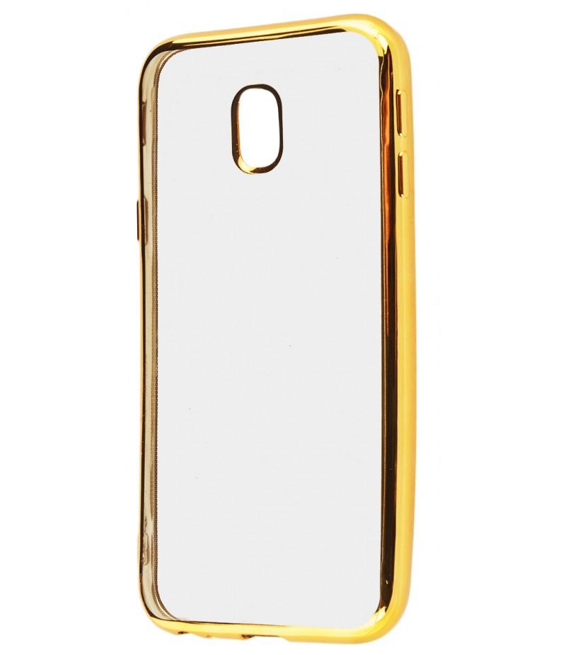 Силикон метализированный Samsung J330 gold
