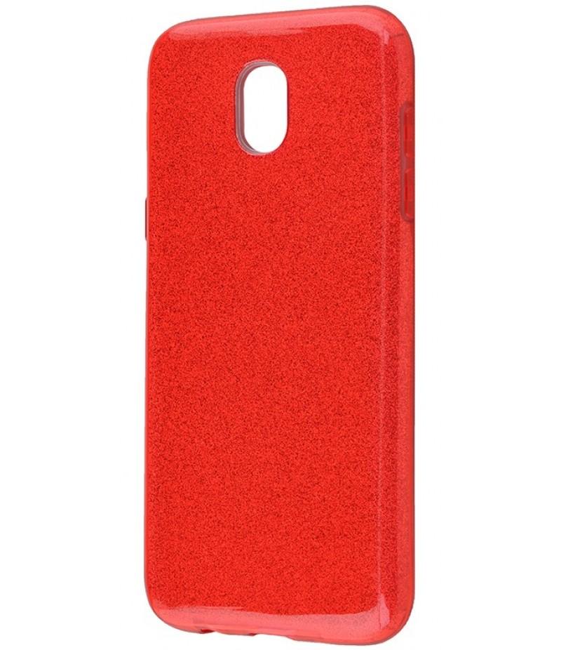 Glitter Samsung J530 red