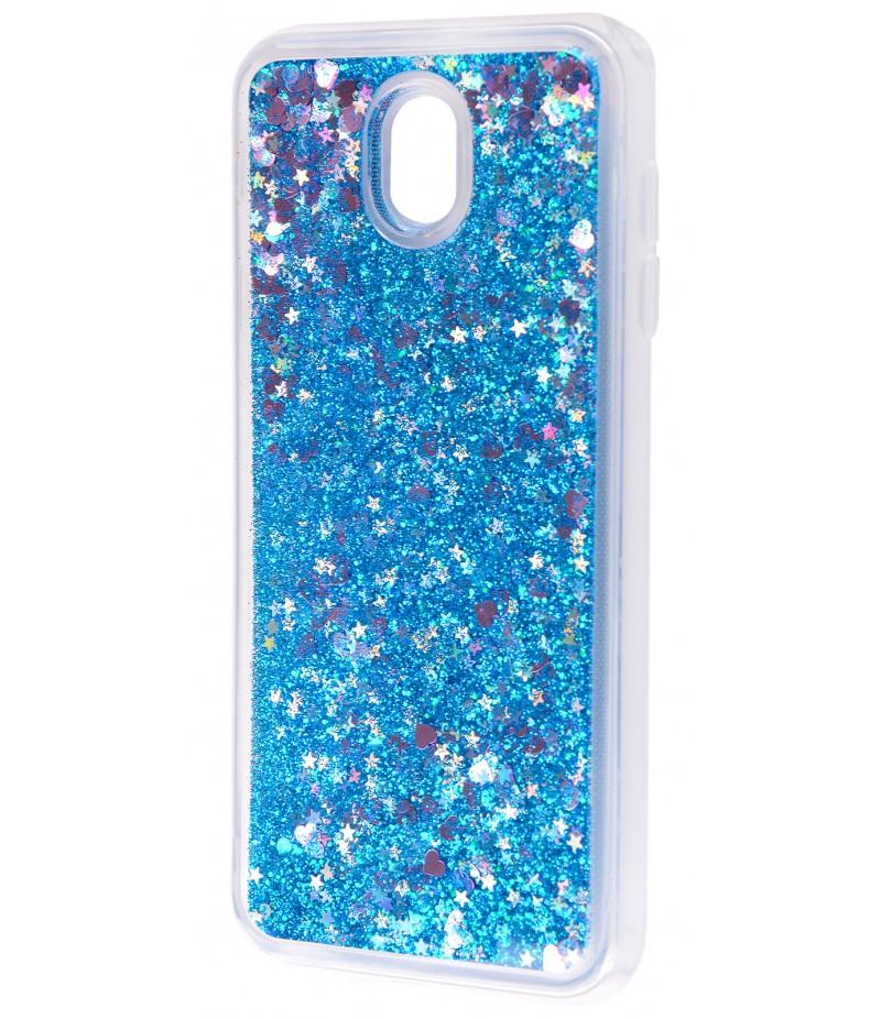 Жидкость внутри блестки Samsung J330 blue