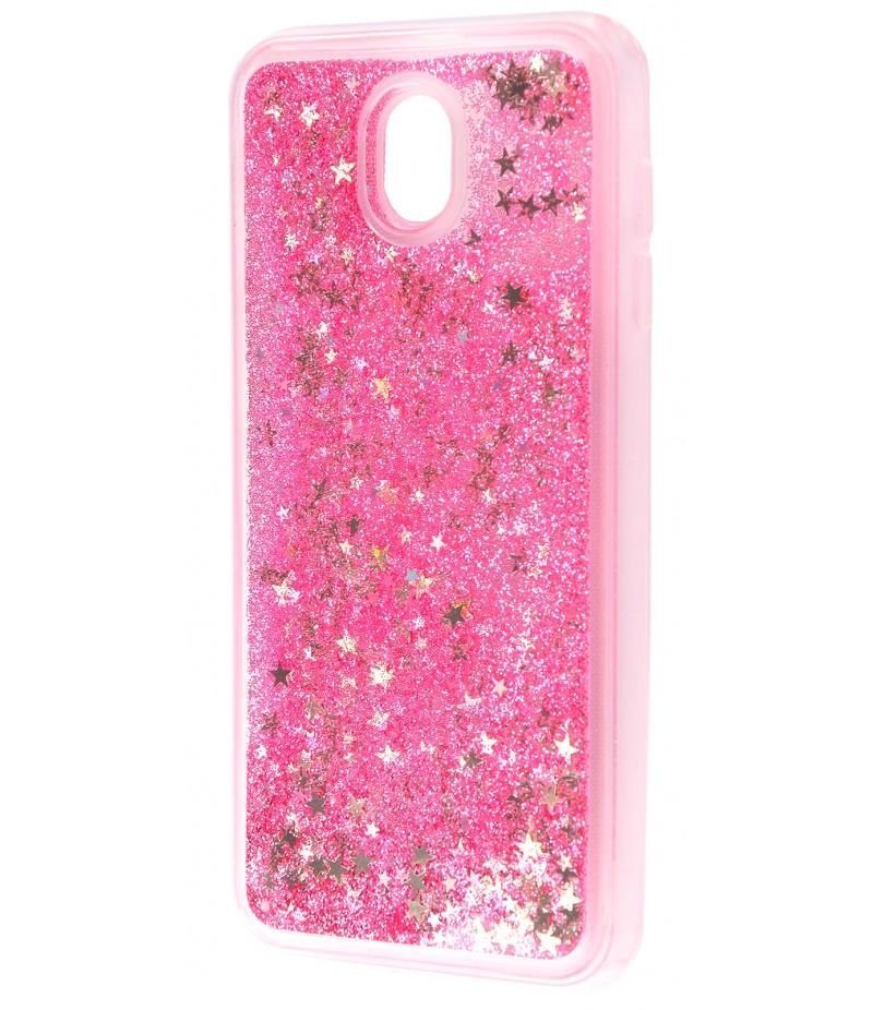 Жидкость внутри блестки Samsung J330 pink