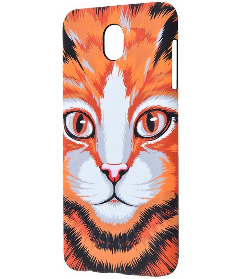 Luxo Samsung J730  кот оранжевый