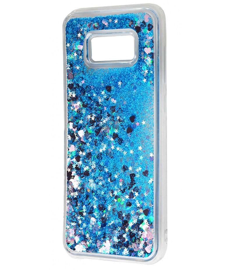 Жидкость внутри блестки Samsung S8+ blue