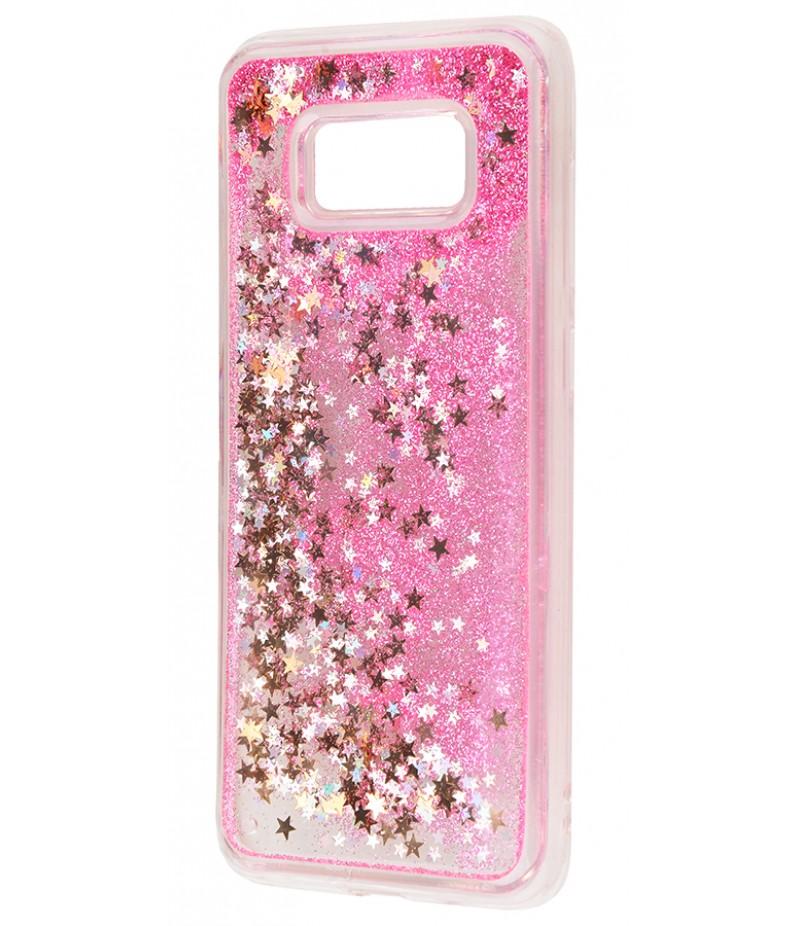 Жидкость внутри блестки Samsung S8+ pink