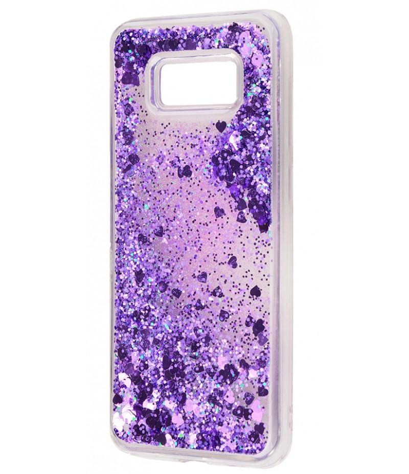 Жидкость внутри блестки Samsung S8+ fiolet