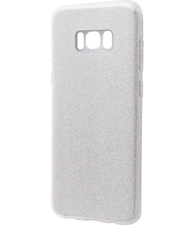 Ударопрочный чехол Shining Glitter Samsung Galaxy S8 Silver