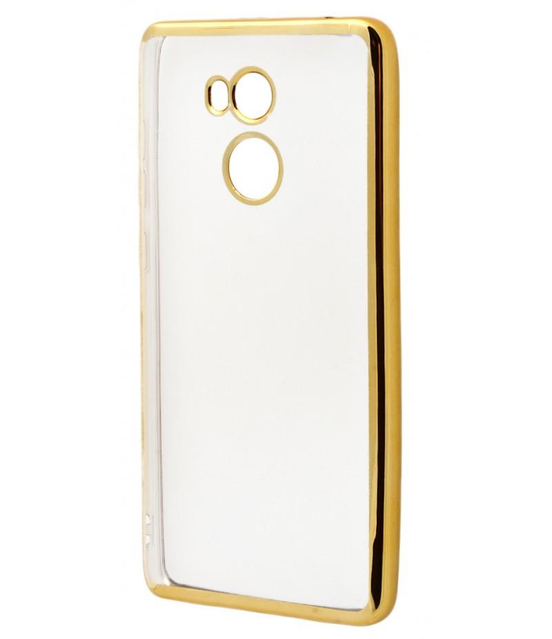 Силикон метализированный gold Xiaomi 4 Prime