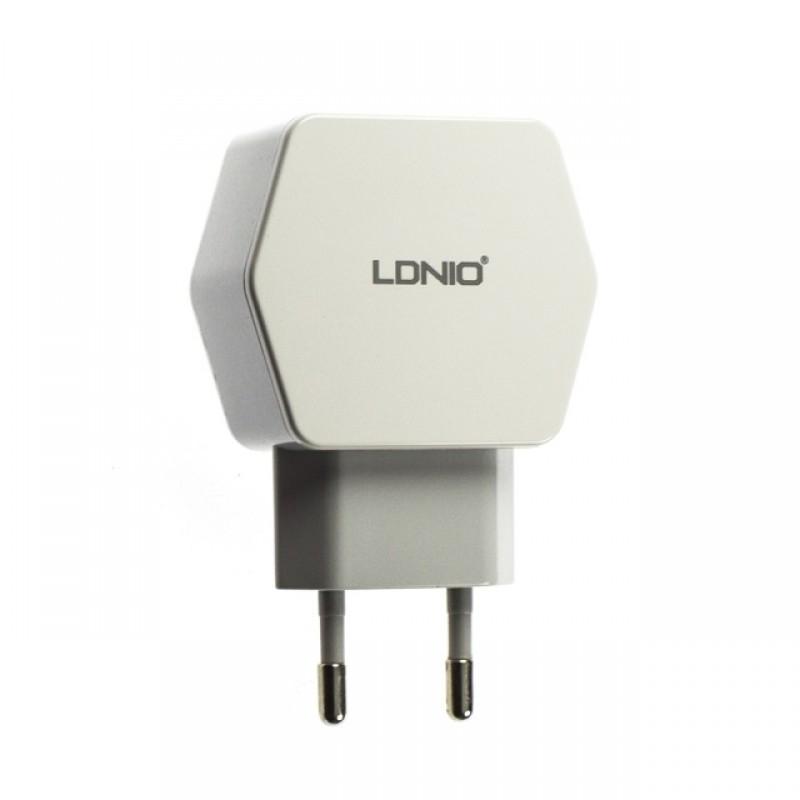 Мережевий зарядний пристрій LDNIO DL-AC61 2.1A