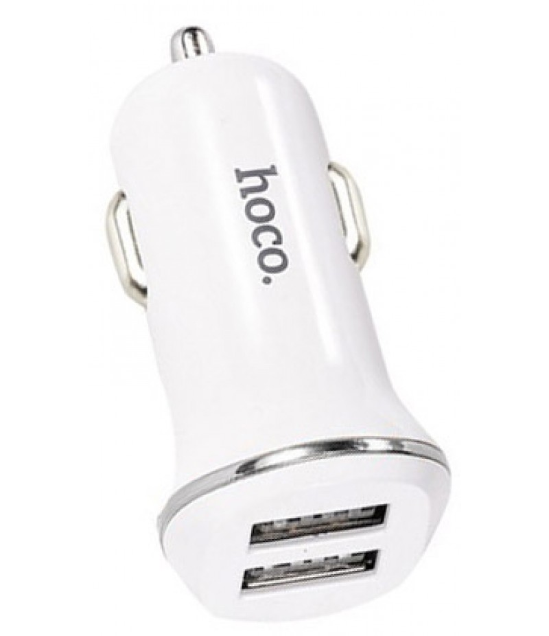 Usb car adapter Hoco Z1 2.1A white