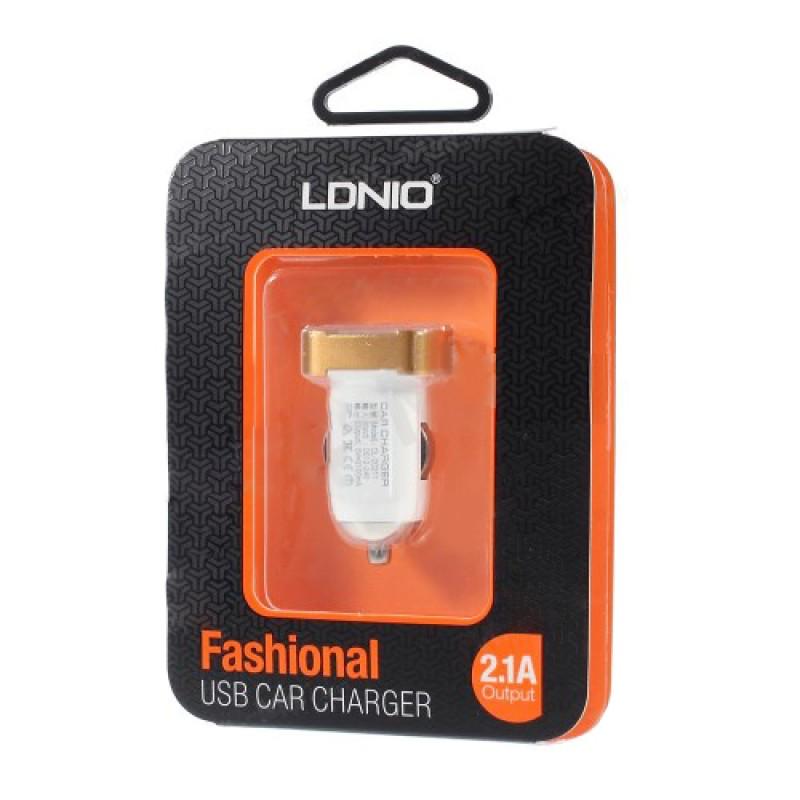 Автомобільний зарядний пристрій LDNIO DL-C211 2,1А white