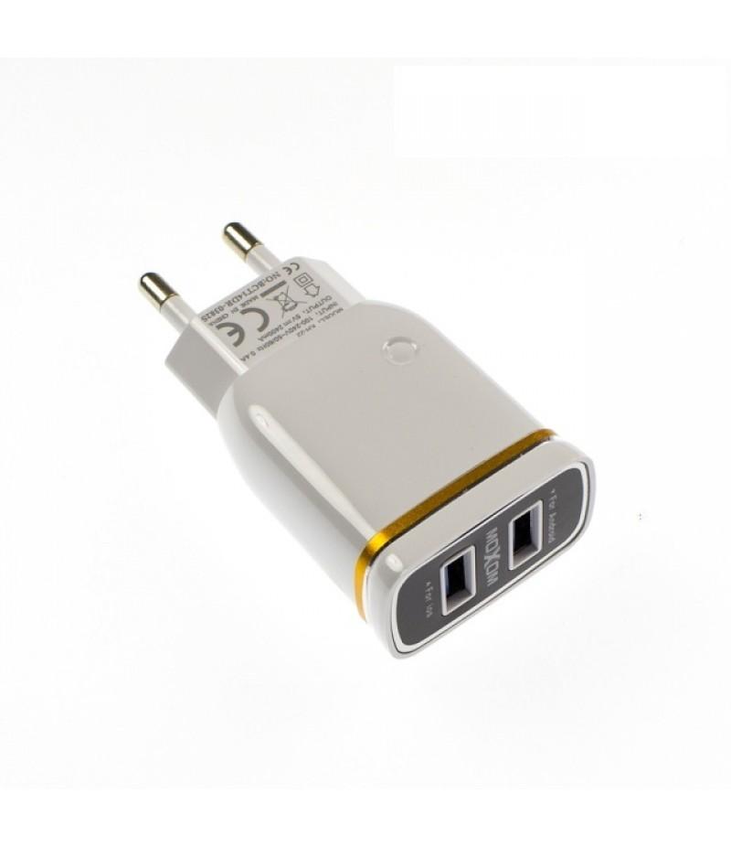 Мережевий зарядний пристрій MoXoM KH-22 2,4A + Lightning кабель