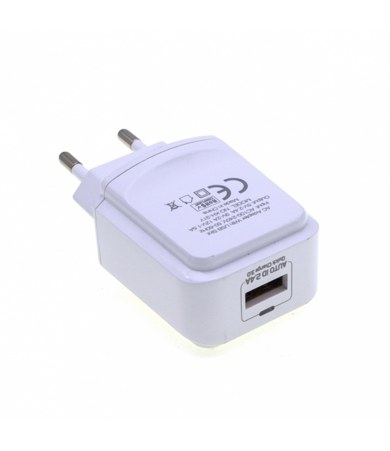 USB Charger Adapter MoXoM KH-31Y 2.4A Quick Charge 3.0 with microUSB