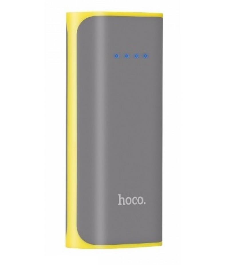 Зовнішній акумулятор Hoco B21 5200 mAh Grey