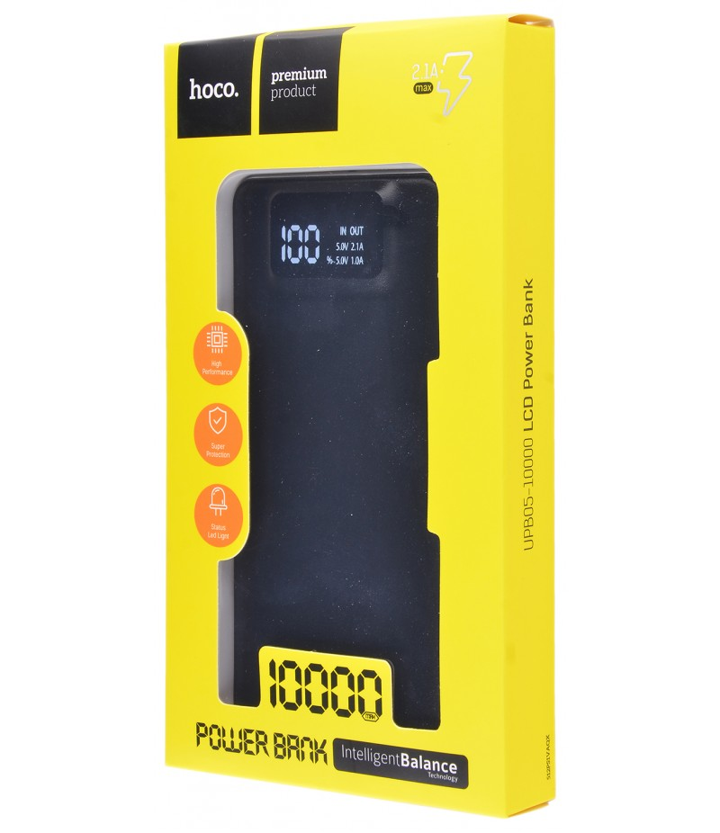 Внешний аккумулятор Hoco UPB05 Classic 10000 mAh Black