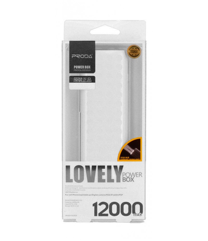 PowerBank Proda Lovely 12000mAh white