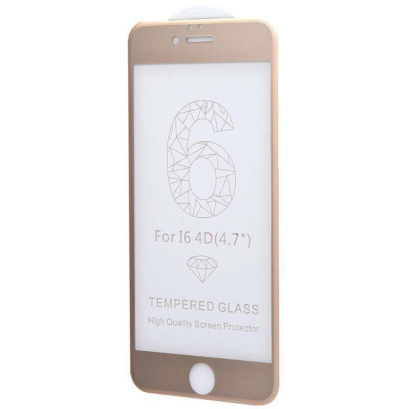 Захисне 4D скло Full Screen 360 для iPhone 6 Gold