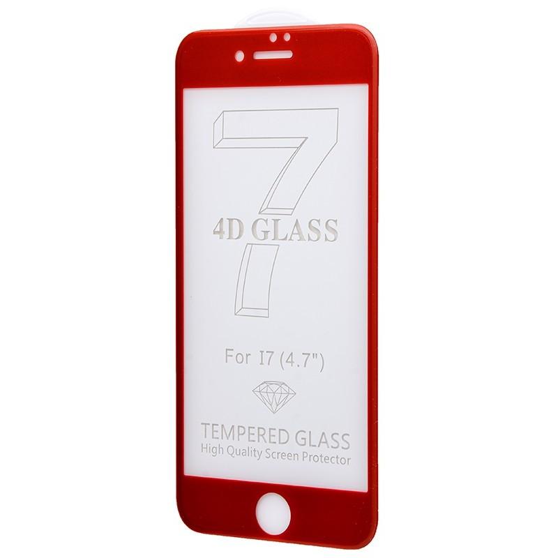 Захисне 4D скло Full Screen 360 для iPhone 7 Red