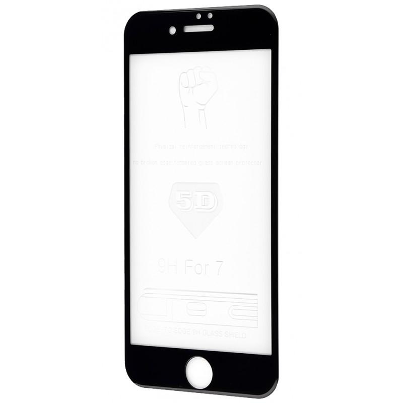 Захисне 5D скло Full Screen 360 для iPhone 7 Black