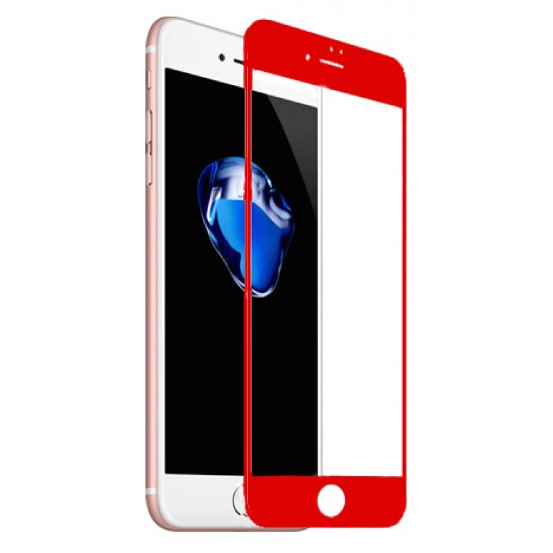 Захисне 3D скло Baseus Pet Soft Glossy 0,23mm Red iPhone 7