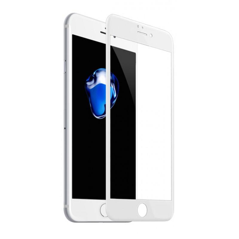 Захисне 3D скло Baseus Pet Soft Glossy 0,23mm White iPhone 7